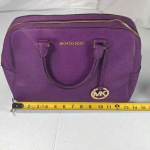 Michael Kors purple leather handbag